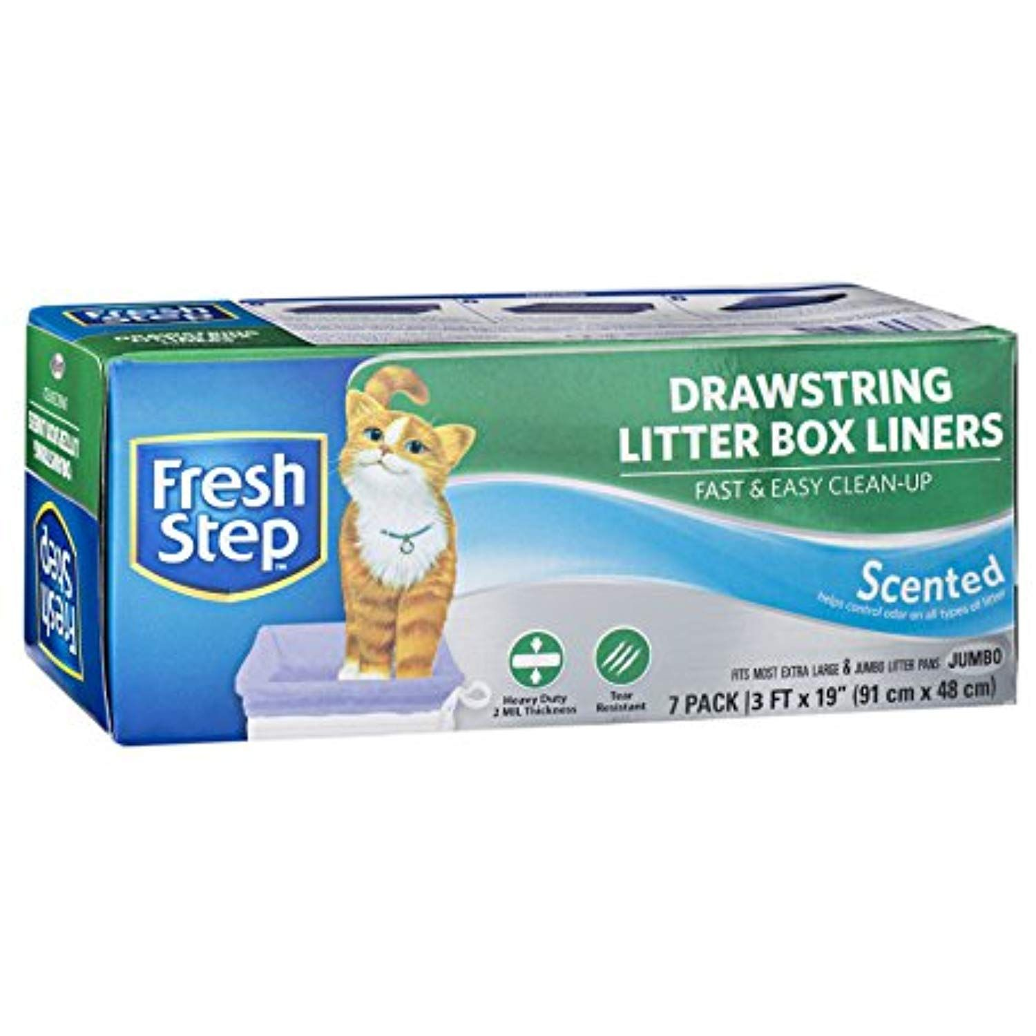 Fresh Step Drawstring Scented Litter Box Liners Quick