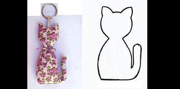 gato de retalho de tecido