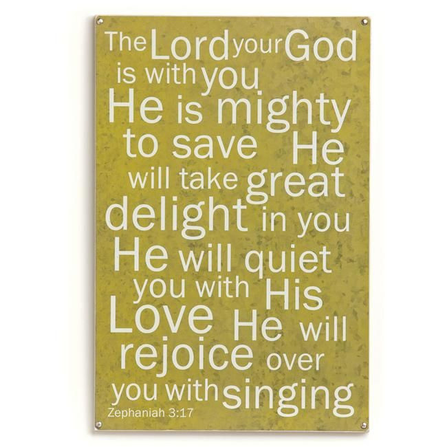 Demdaco Urban Soul Rejoice Over You Wall Art - The Lord your God is ...