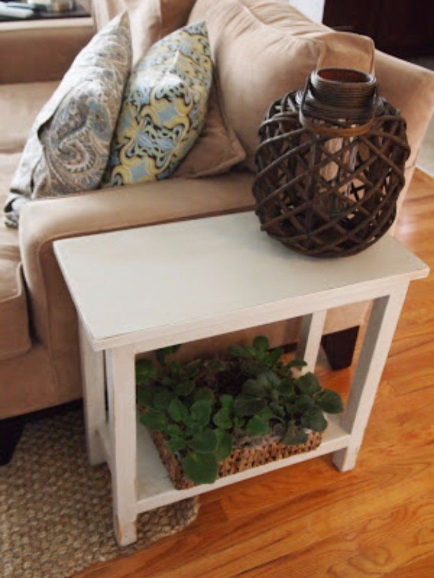 31 Diy End Tables Narrow Side Table
