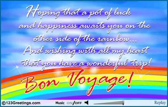 Have a safe trip wishes school pinterest bon voyage and voyage everyday bon voyage cards free everyday bon voyage wishes 123 greetings m4hsunfo