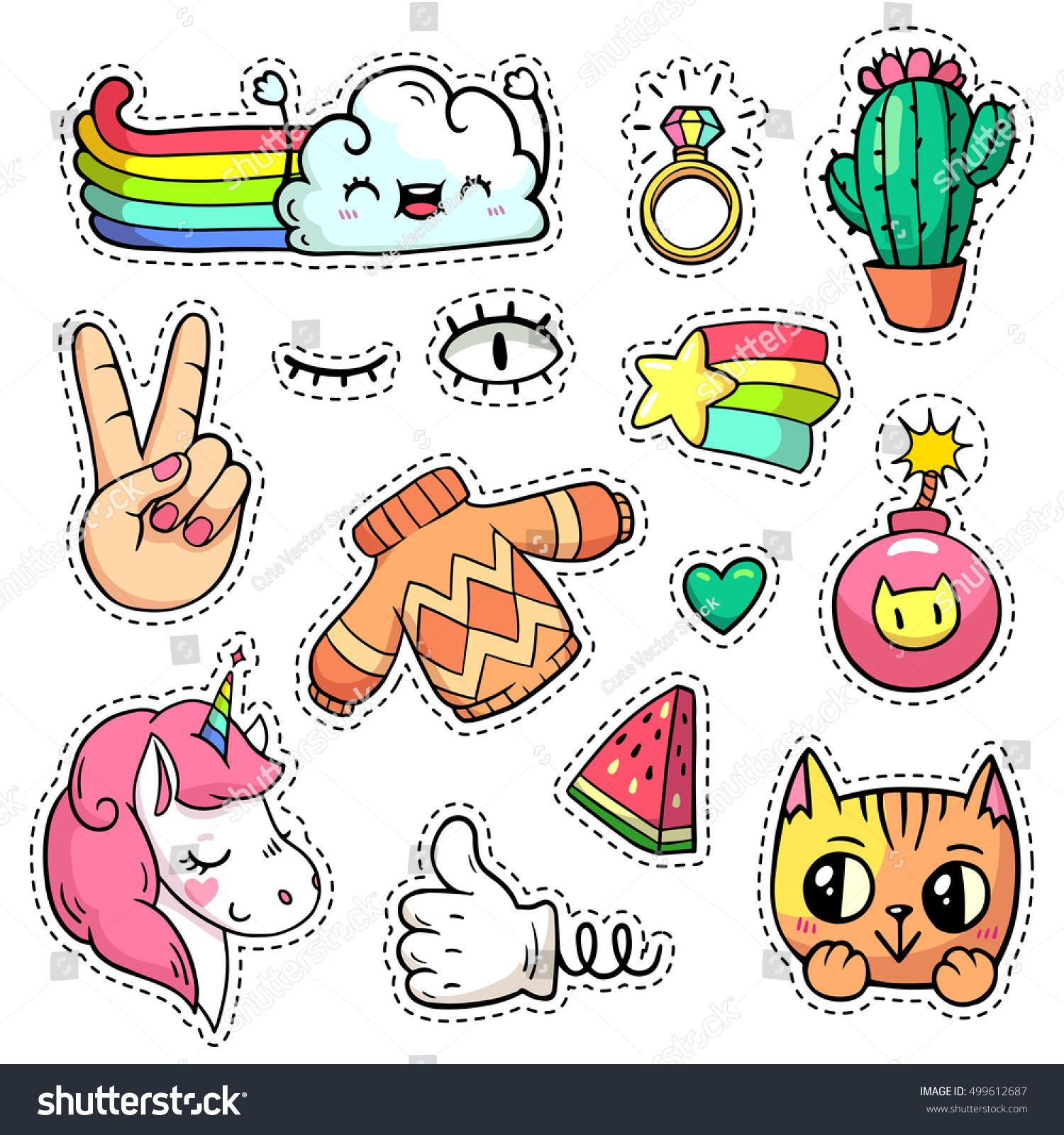 imagens de sorvetes kawaii para colorir