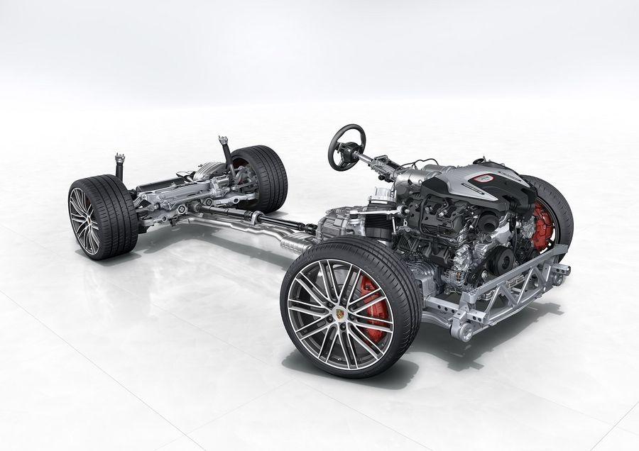 На небольших скоростях сервопривод отклоняет задние колёса ...