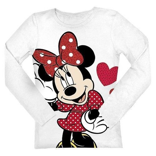 Disney® Minnie Mouse Infant Toddler Girls' Long Sleeve Tee #MinnieMouse