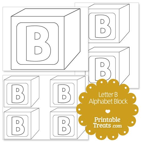 block letter b template  Printable Letter B Alphabet Block Template from ...