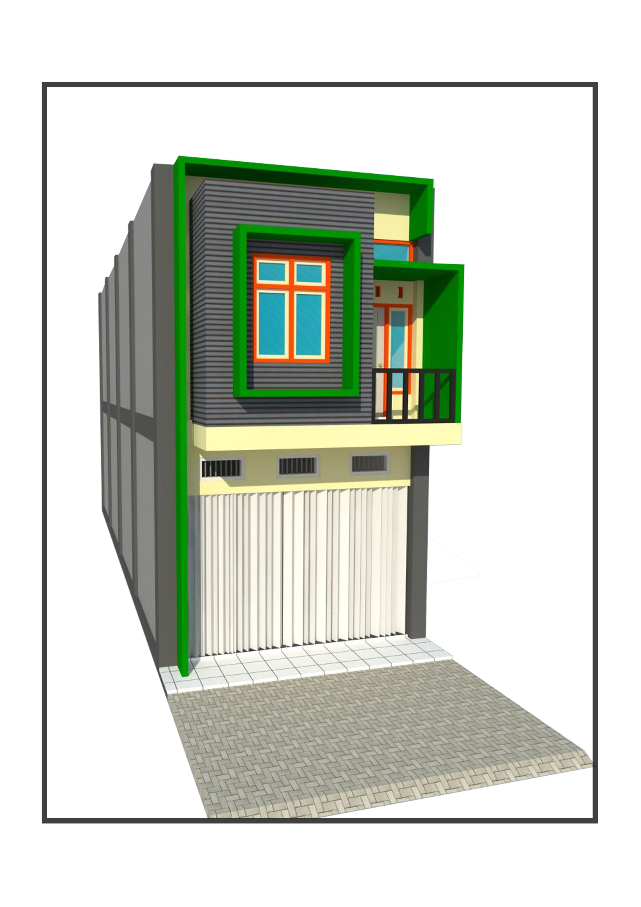 Ruko Minimalis 2 Lantai Dengan Gambar