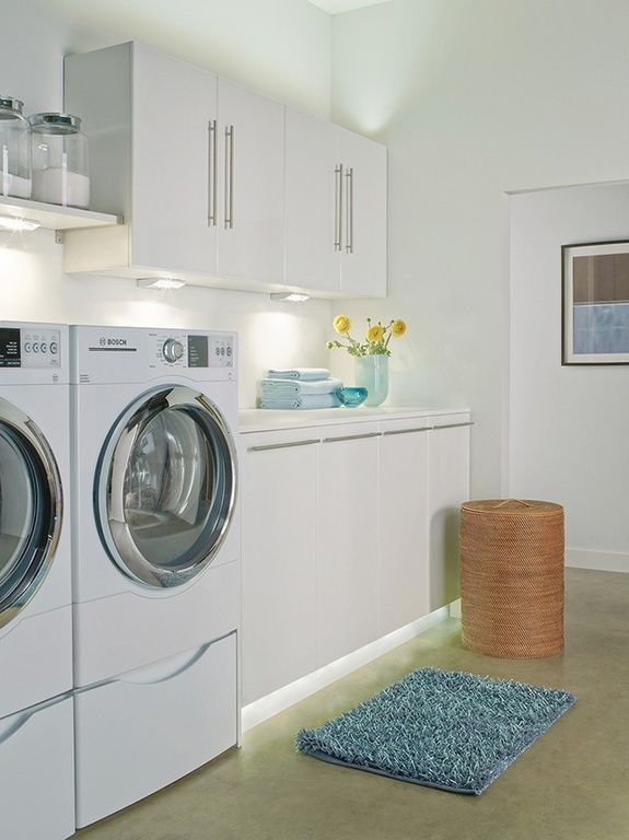 Contemporary Laundry Room with Kichler 12011 TaskWork Direct Wire 1 ...