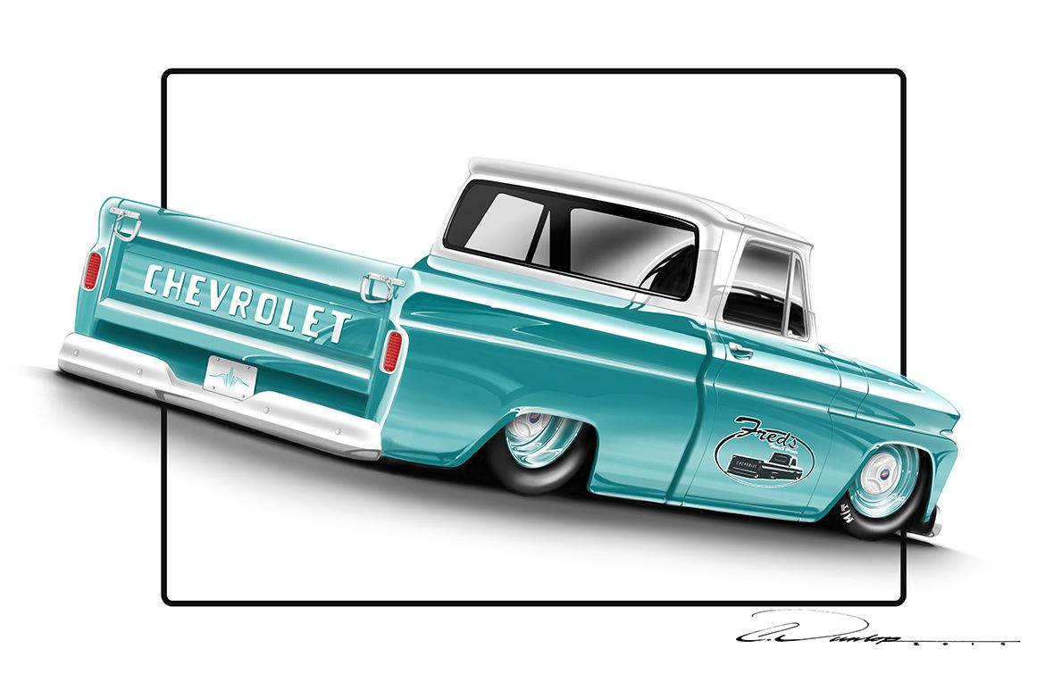 Automotive Artwork by Pinstripe Chris - Rendering | Chevy c10 ...