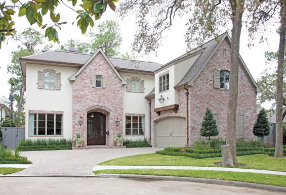 Love this french country acadian style home in houston - Country style exterior house colors ...