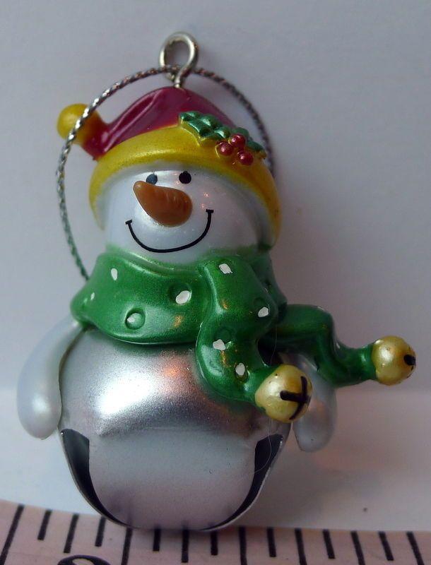 #Blank #NONAME Generic  Ganz #Snowman Jingle Bell Ornament #Ganz