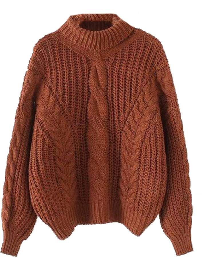 c3acf15d737 Goodnight Macaroon 'Kaipo' Roll Neck Chunky Cable Knit Sweater (4 ...