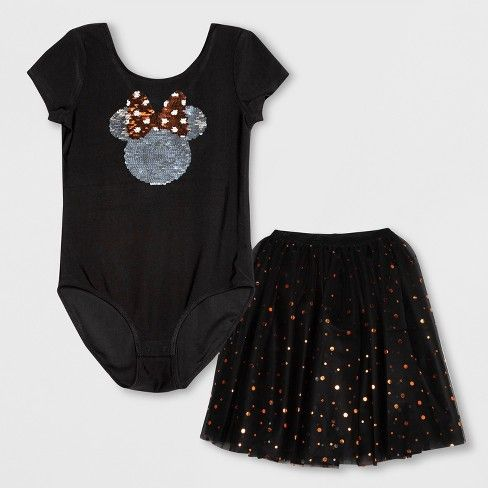 1b9a68b3 Girls' Disney Minnie Mouse Tutu Dress - Black : Target   Disneyland ...