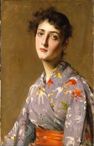 Girl in a Japanese Costume - William Merritt Chase