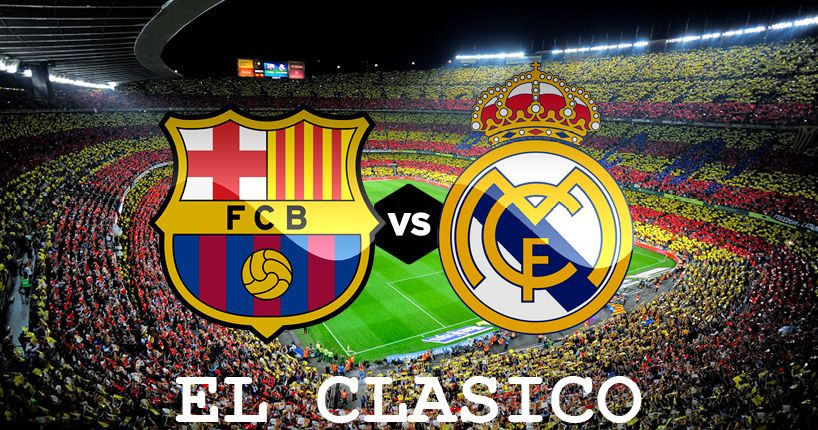 SFIDA BARCELLONA - REAL MADRID OGGI POMERIGGIO ORE 16.15, FUORICLASSE AL CONFRONTO!In classifica il Real Madrid si trova a +6 dal Barcellona