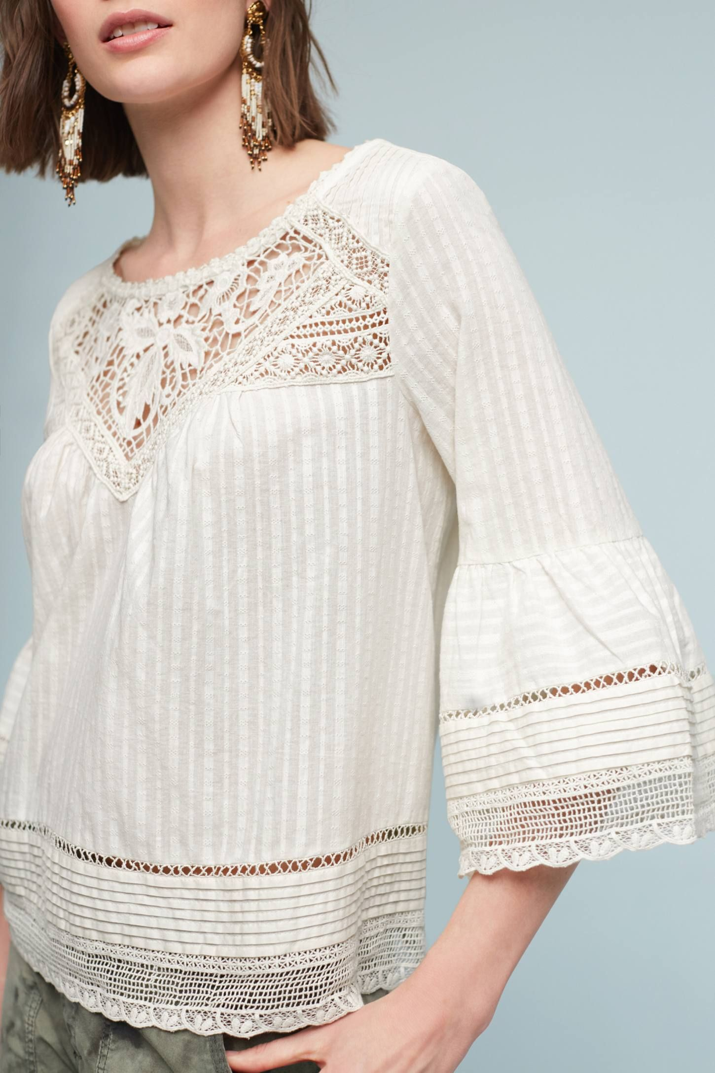 019fb455ab08c8 Priscilla Bell-Sleeve Blouse | Anthropologie | FASHION - Fashion ...