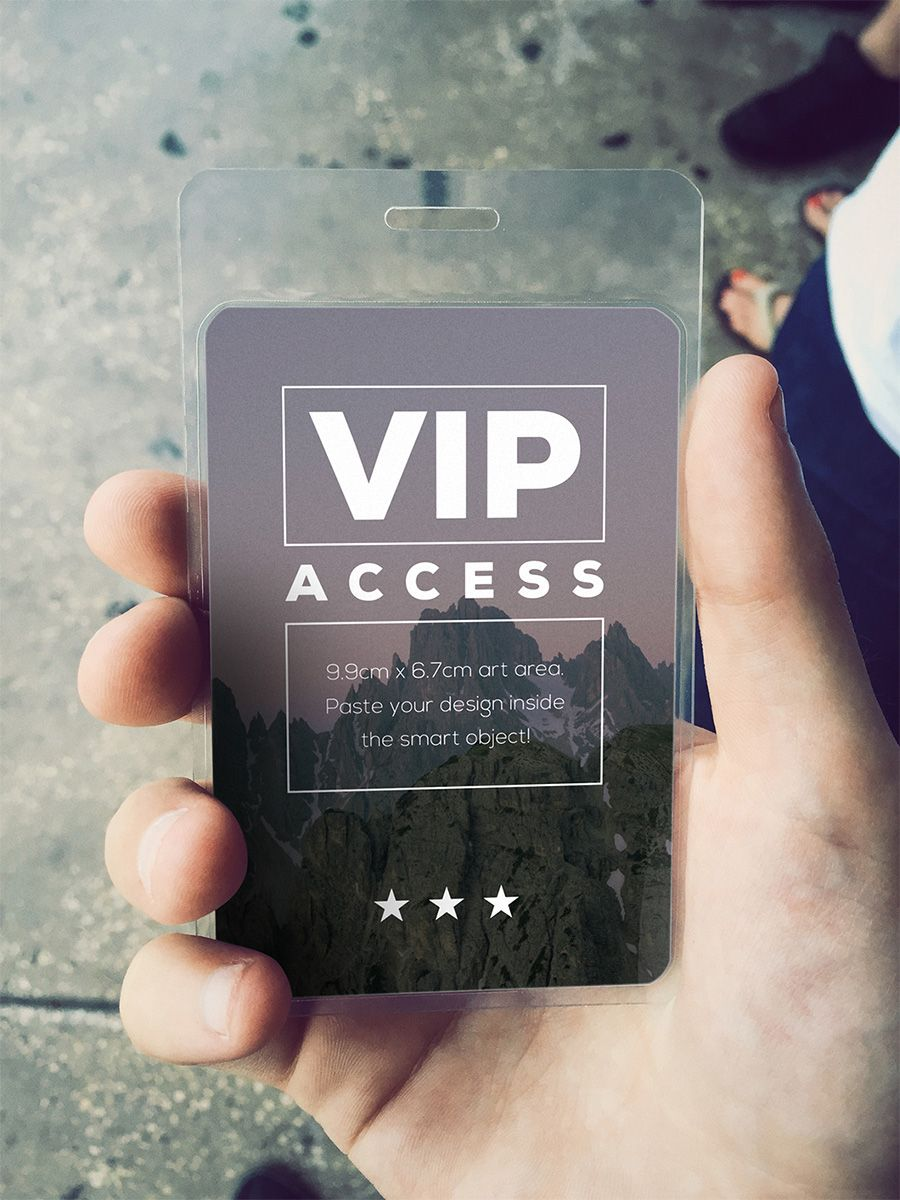 VIP Event Pass Mockup Free photoshop Mockup and Vip