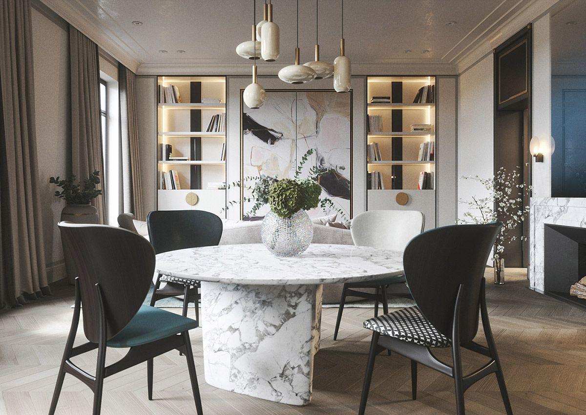 3 Home Interiors With Modern Elegance Elegant Home Decor Dining