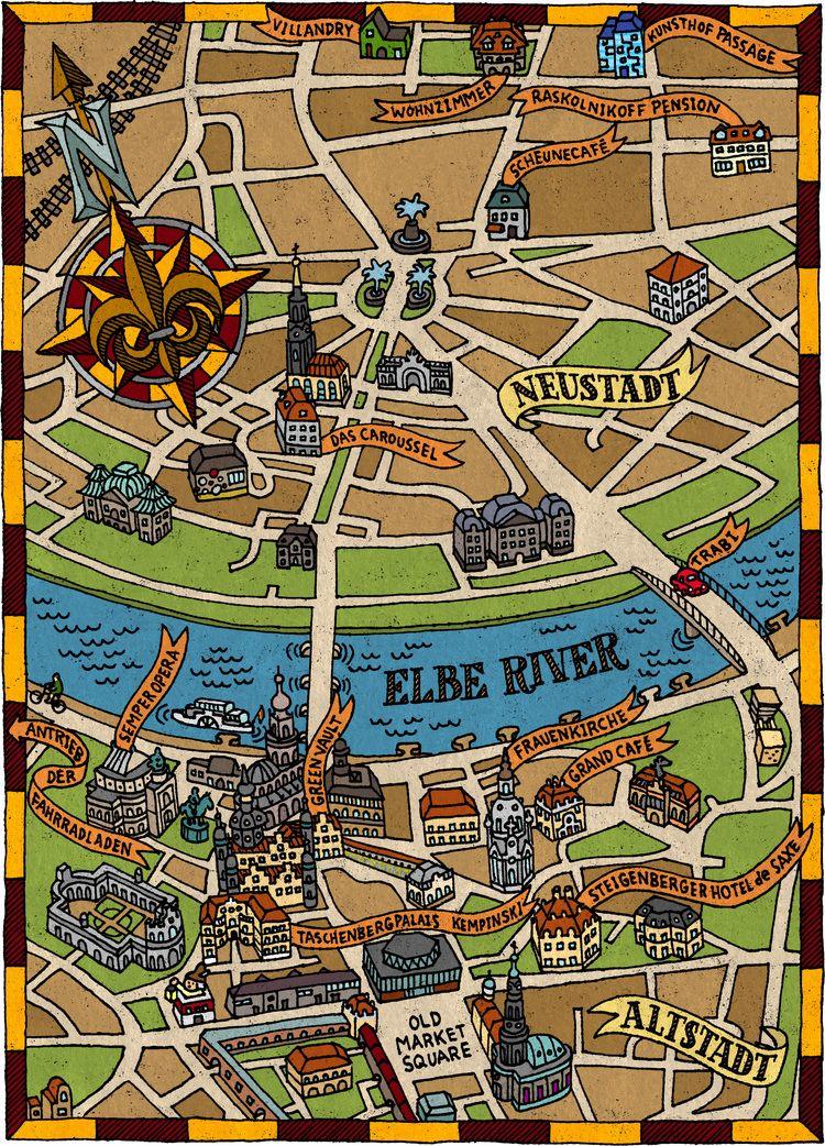 Dresden Map | Desden in 2019 | Dresden map, Map, Travel maps on