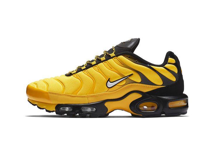 Nike Air Max Plus Goes Black Yellow Next Month Nike Air Max Plus Nike Air Max Black Nike Shoes