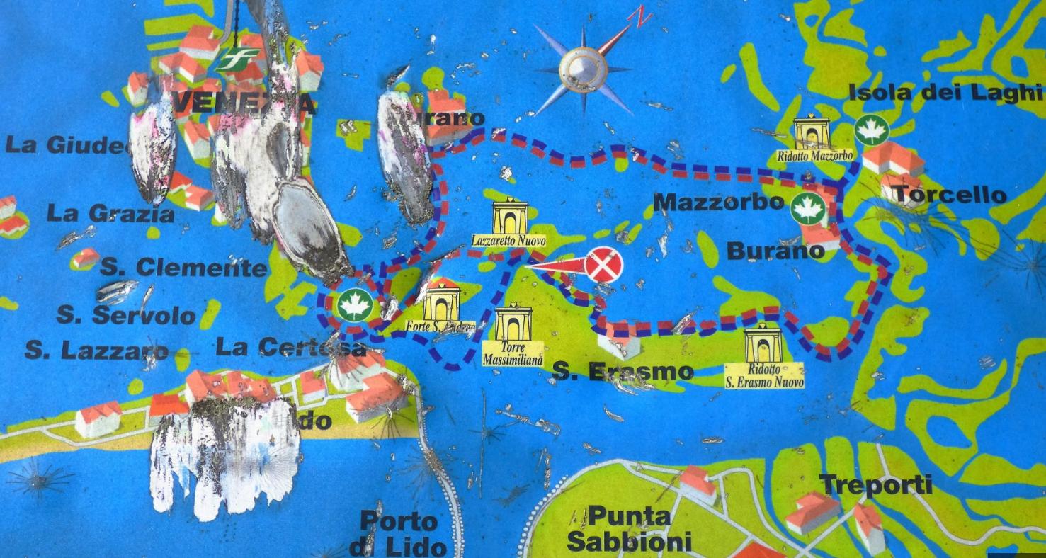Karte Der Lagune, Venedig   Foto: S. Hopp