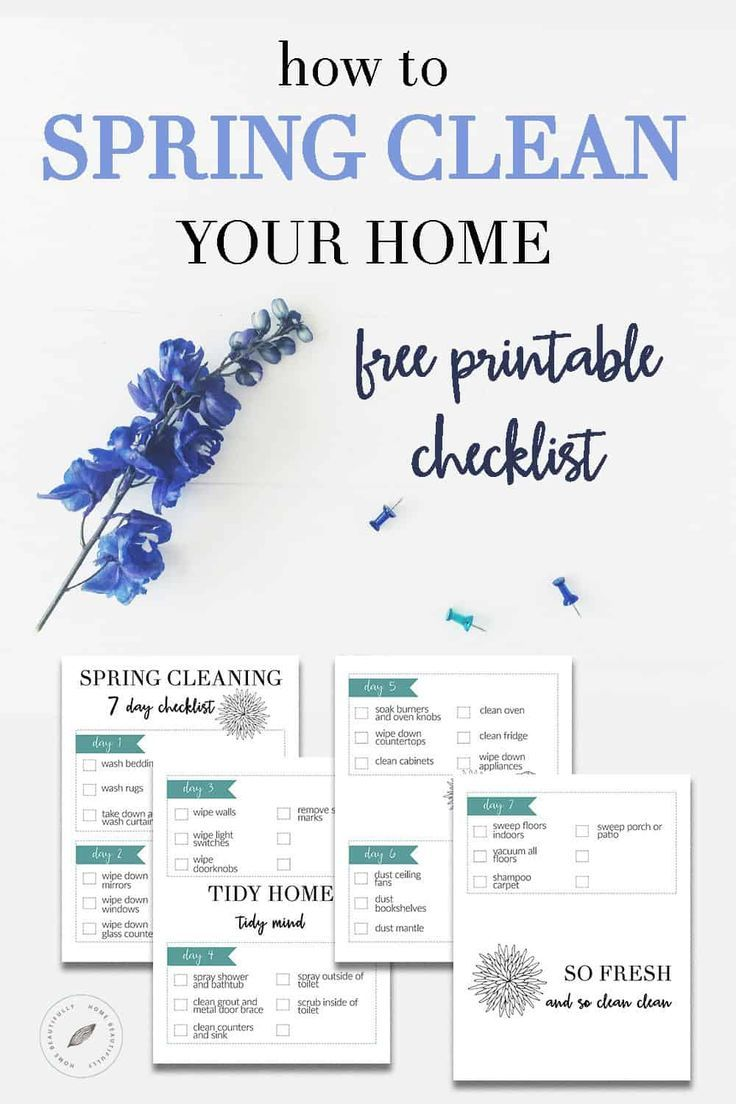 Looking for spring cleaning tips and hacks? This free printable checklist will make spring cleaning easy and fast. Wondering how to spring clean your home? Grab this simple list to clean your bedroom, bathroom, kitchen, and living room in only one week. Spring cleaning checklist printable | spring cleaning checklist by room | ultimate spring cleaning checklist |easy spring cleaning checklist