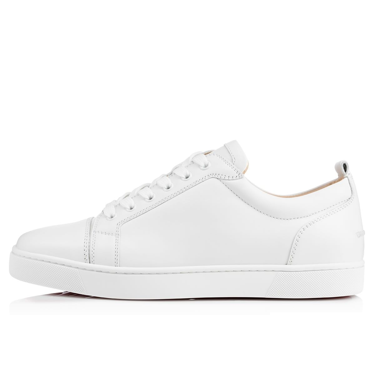Louis Junior White Leather Men Shoes Christian Louboutin In 2019