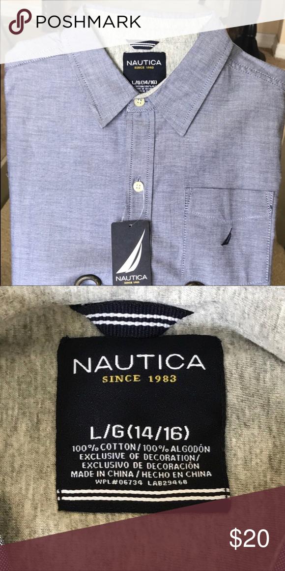 Nautica Boys L//S Button-Down
