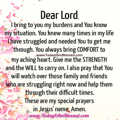Prayer for Strength Quotes | Prayer Quotes For Family I also ...