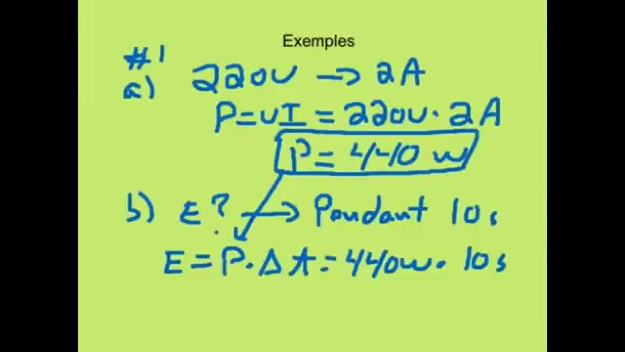Calcul des puissances electrique calcul de chute de - Comment calculer les puissances ...