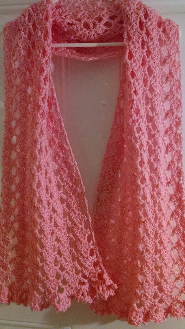 Pink Ribbon Prayer Shawl | Chal, Tejido y Tejido facil