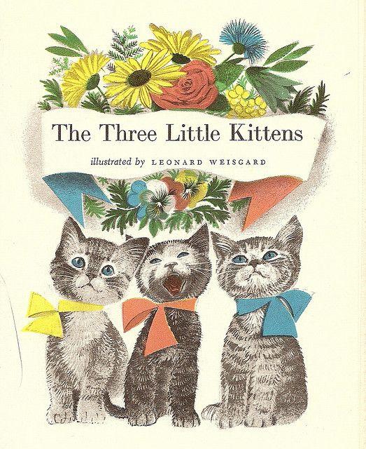 The Three Little Kittens Little Kittens Vintage Cat Children S