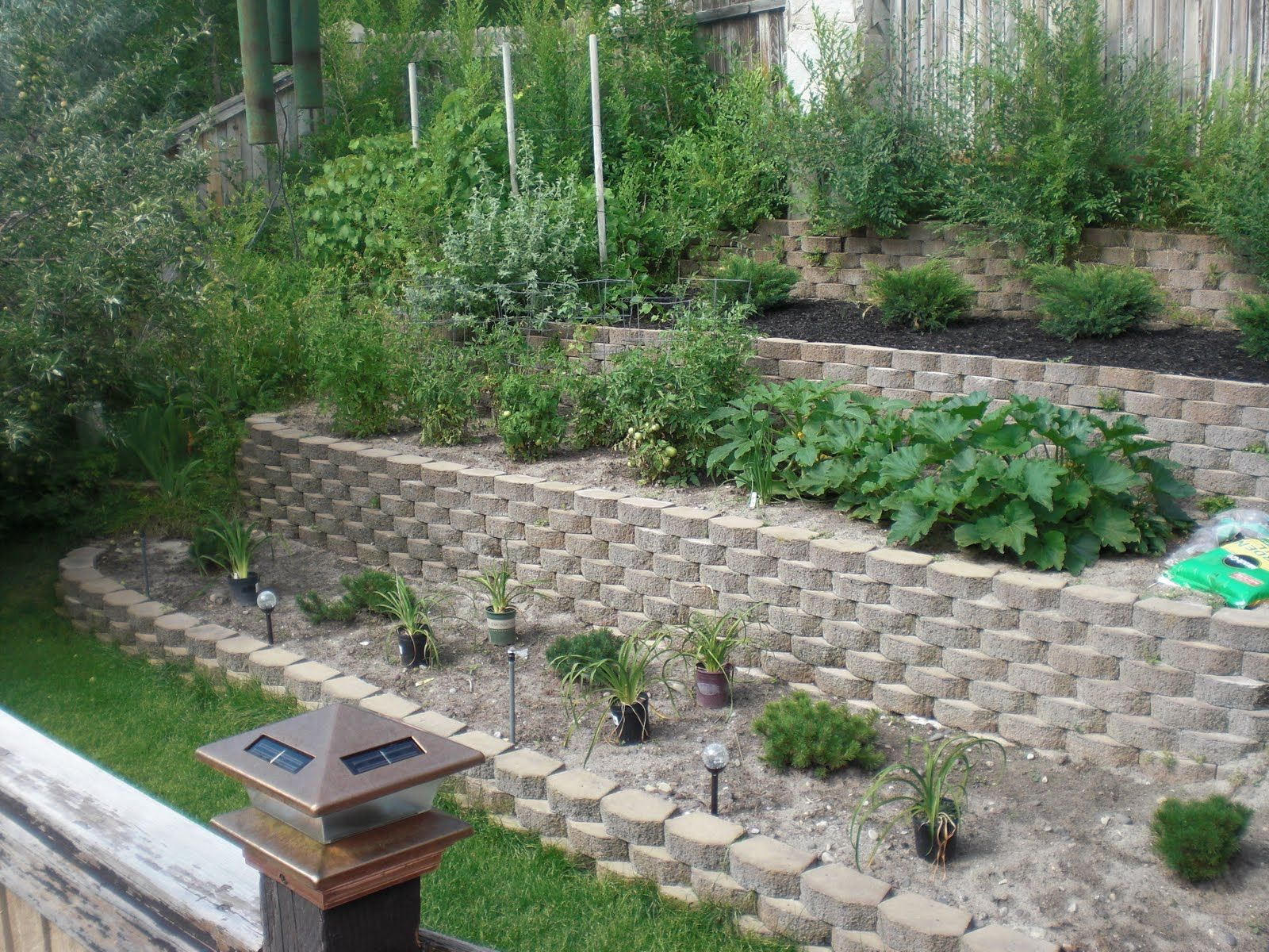 Terraced Backyards Backyard Terrace Before And After ... on Terraced Backyard Landscaping Design id=47279