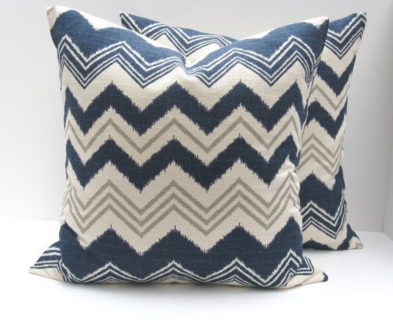 Chevron Pillow Blue Pillows Throw Pillow Covers 40x40 InchMissoni Fascinating Blue And Grey Decorative Pillows