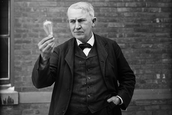 Thomas Alva Edison 1847 1931 American Invented The Phonograph Motion Picture Camera Practical Light Bulb And The Thomas Edison Alva Edison Poster Prints