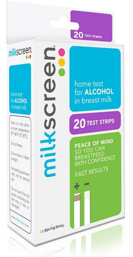 Milkscreen Test Strips for Alcohol in Breastmilk (20-Pack
