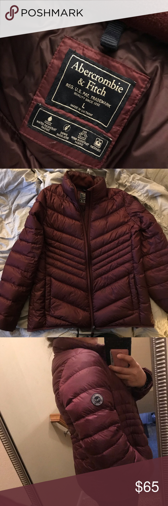 Abercrombie Fitch Lightweight Puffer Jacket Lightweight Super Warm And Cozy Packable And Comes With I Abercrombie And Fitch Jackets Clothes Design Fashion [ 1740 x 580 Pixel ]