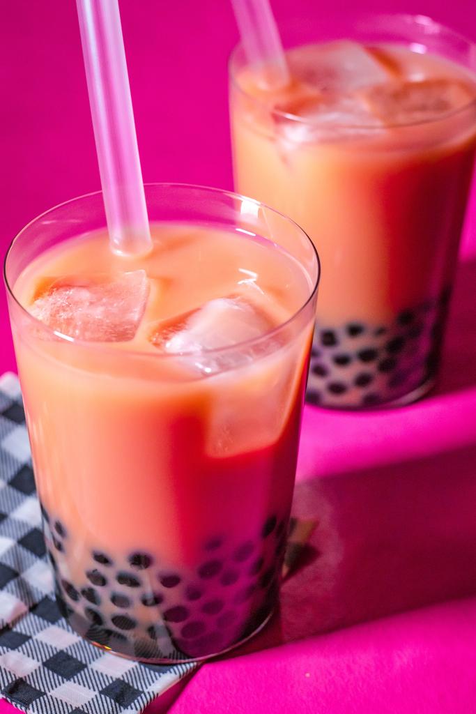 How To Make Boba Tea Basic Boba Tea Recipe Kiyafries Recipe Boba Tea Recipe Tea Recipes Bubble Tea Recipe