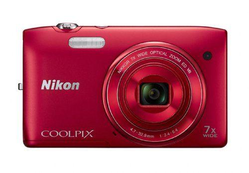 Nikon COOLPIX S3500 20.1 MP Digital Camera with 7x Zoom (Red) - http://allgoodies.net/nikon-coolpix-s3500-20-1-mp-digital-camera-with-7x-zoom-red/