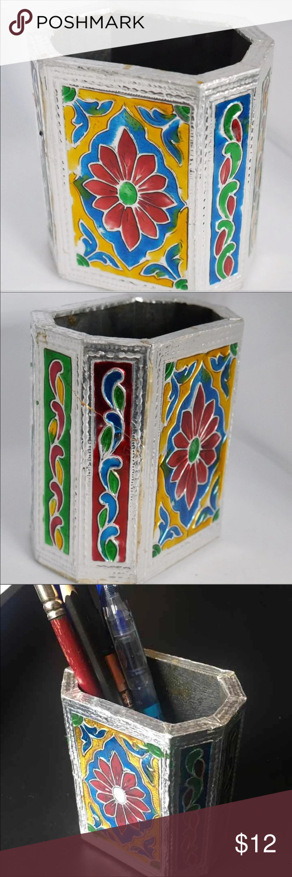 Enamel work Indian Makeup Cup This is brand new and never