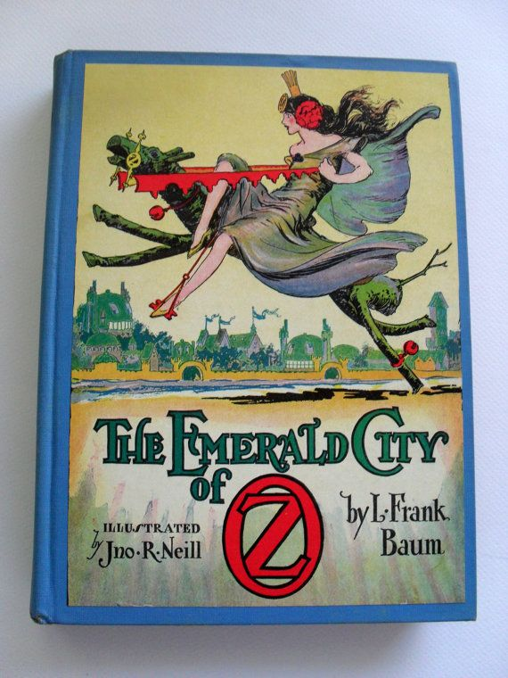 Vintage Book The Emerald City of Oz by MiddleSisterVintage on Etsy, $125.00