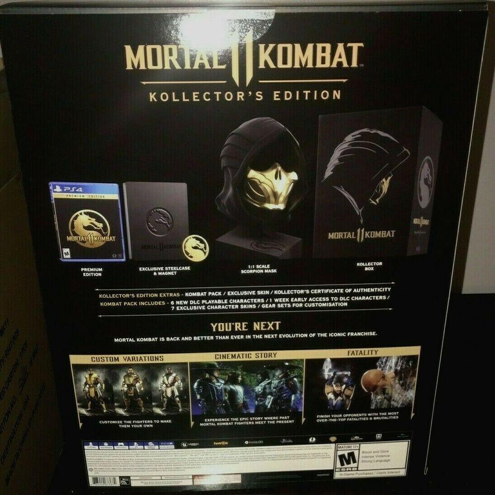 Mortal Kombat 11 Kollector S Edition Playstation 4 Ps4 Collectors