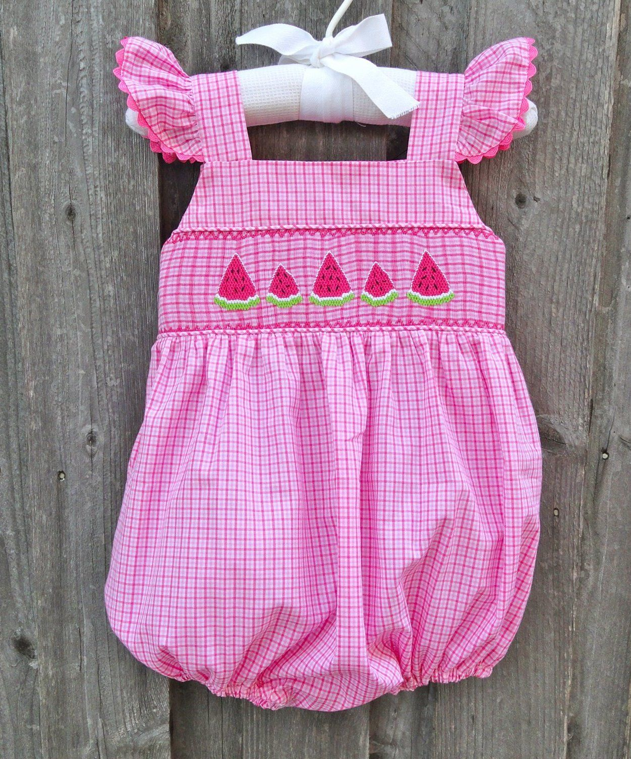 304c56f21 Smocked Watermelon Bubble from Smocked Auctions | Summer Fun ...
