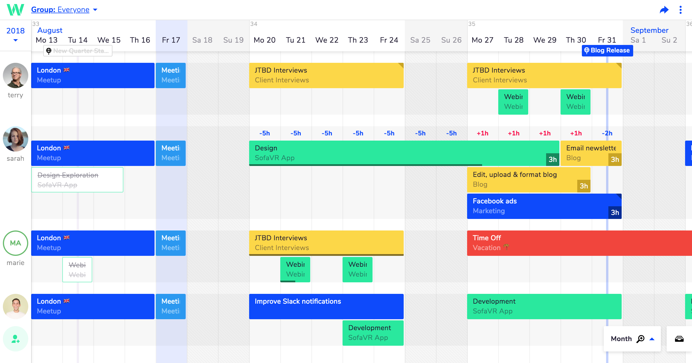 Teamweek is a timesaving online project planner and team