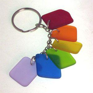 Rainbow Seaglass Keychain  b31376f00