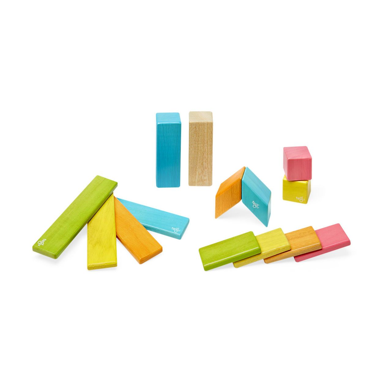 Tegu 24 piece Set in Tints | Magnetic wooden blocks, Wooden