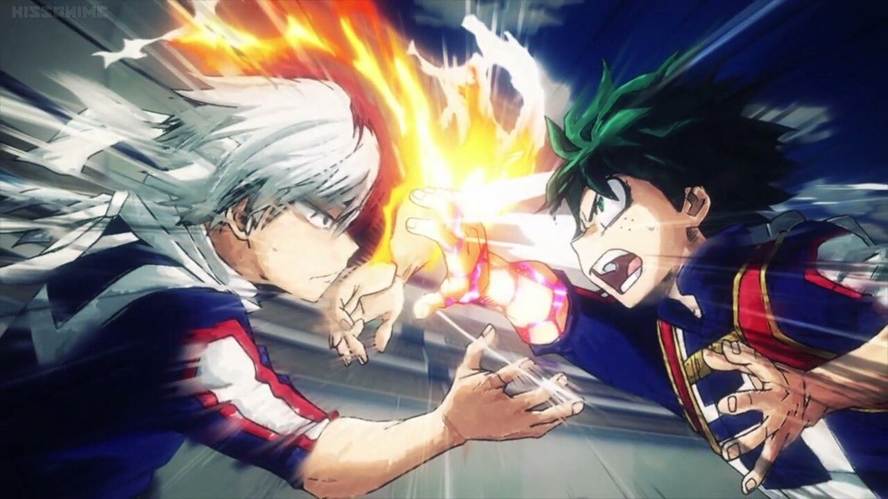 Todoroki and midoriya clash | Boku no hero Academia | Hero