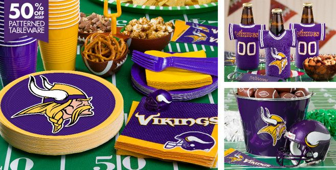d990e035 NFL Minnesota Vikings Party Supplies - Party City | Birthdays ...