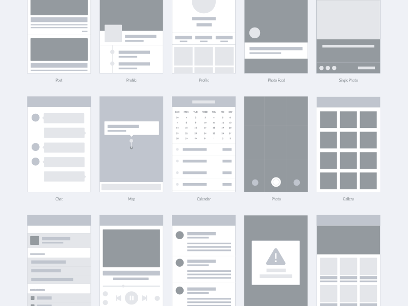 Wireframe for apps