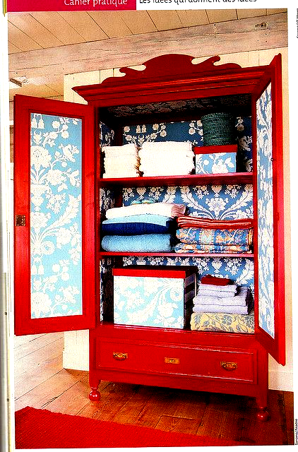 red armoire in 2020 (With images)   Furniture makeover ...