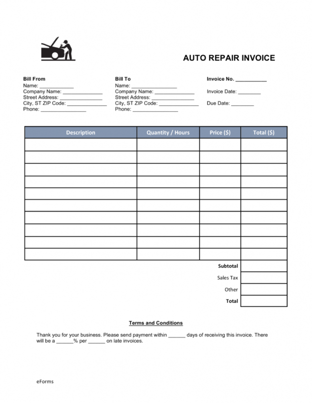 Rent Receipt Format Pdf Free Download Form Invoice Late Filler Layout With Receipt Form Pdf Auto Repair Auto Repair Shop Car Repair Service